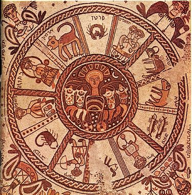 גלגל המזלות בבית הכנסת בבית אלפא