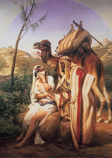"""ציור השמן """"יהודה ותמר"""" מאת הוראס ורנה."""