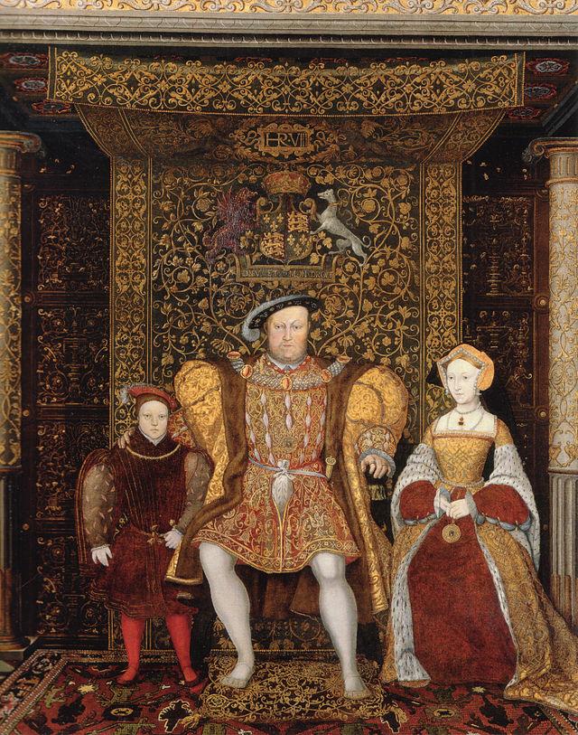 הנרי השמיני עם ג'יין סימור ובנו אדוארד השישי