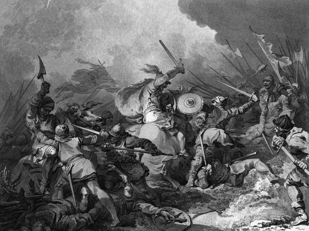 קרב הייסטינגס במאה ה-11 באנגליה de Loutherbourg