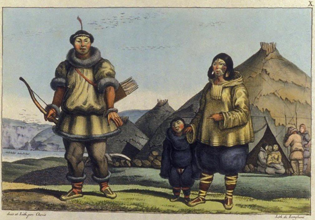 ציור של משפחה צ'וקצ'ית