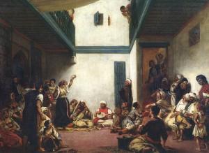 חתונה יהודית במקנס במרוקו (1839). הציור מוצג במוזיאון הלובר בפריז
