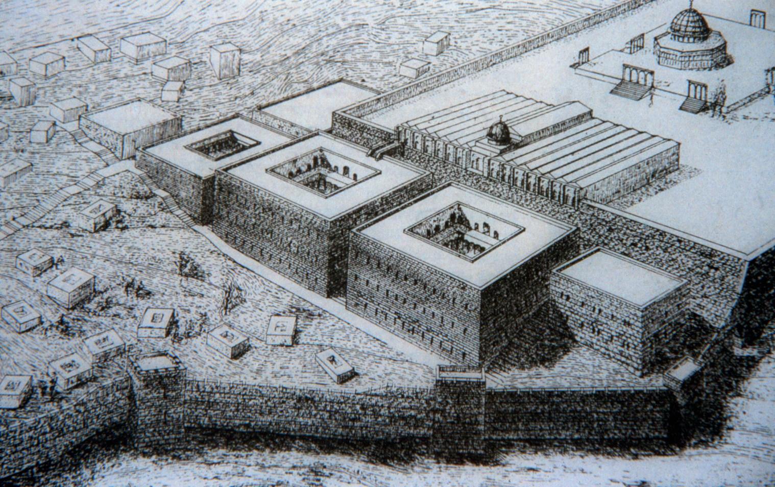 בתקופת בית אמיה נבנו מסגדי הר הבית והארמונות מדרומו.