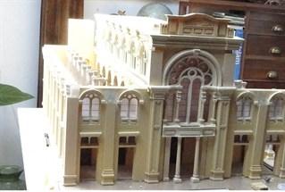 דגם בית הכנסת אליהו הנביא באלכסנדריה, מוצג בבית התפוצות