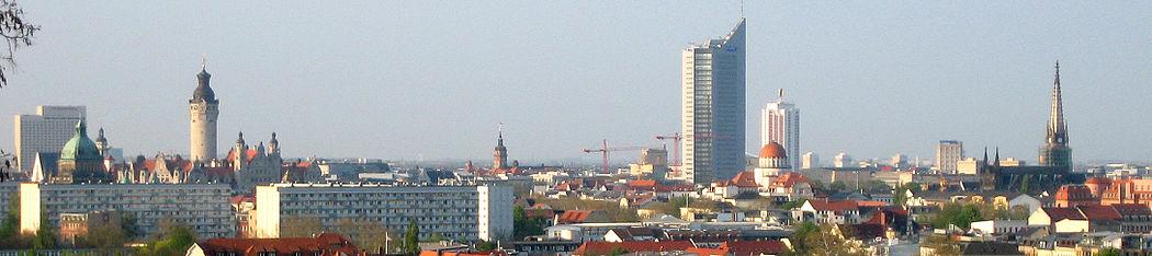 תמונה פנורמית של לייפציג