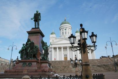 כיכר הסנאט, פסל אלכסנדר ה-2 והקתדרלה (צילומים: דודו בן צור)