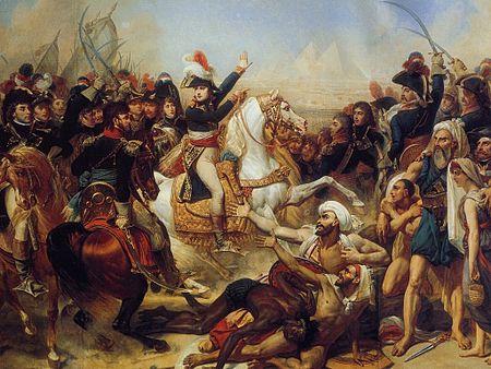 נפוליון בקרב על יד הפירמידות 1798
