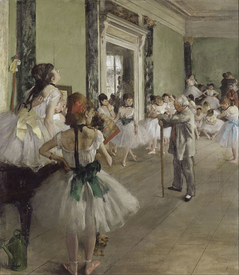 רקדניות בשיעור, ציור של אדגר דגא