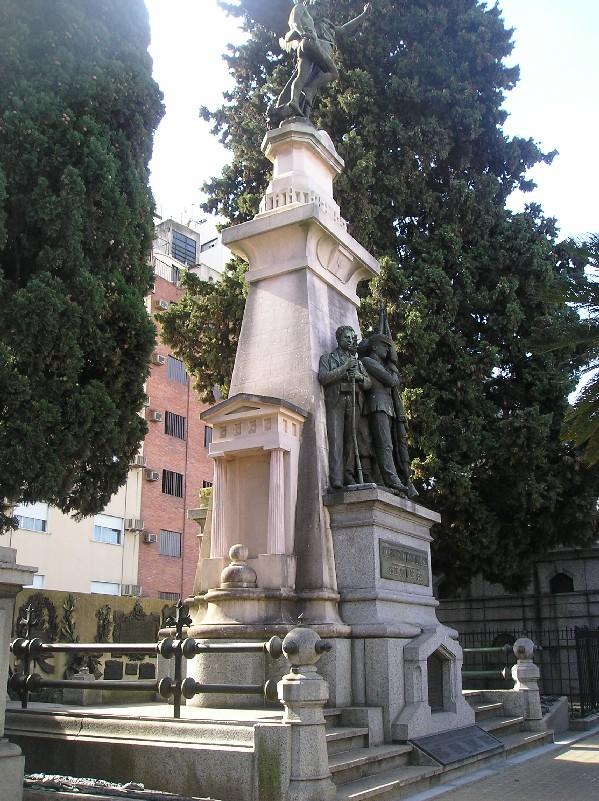 הפנתיאון ללוחמי מהפכת הפארק בבית הקברות לה רקולטה
