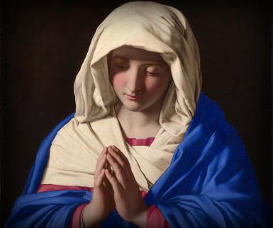 Mary the Mother of Jesus; Giovanni Battista Salvi da Sassoferrato (1640-1650). Public Domain