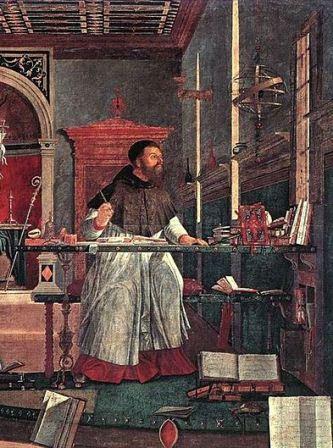 אוגוסטינוס הקדוש. ציור מאת ויטורה כרפציו