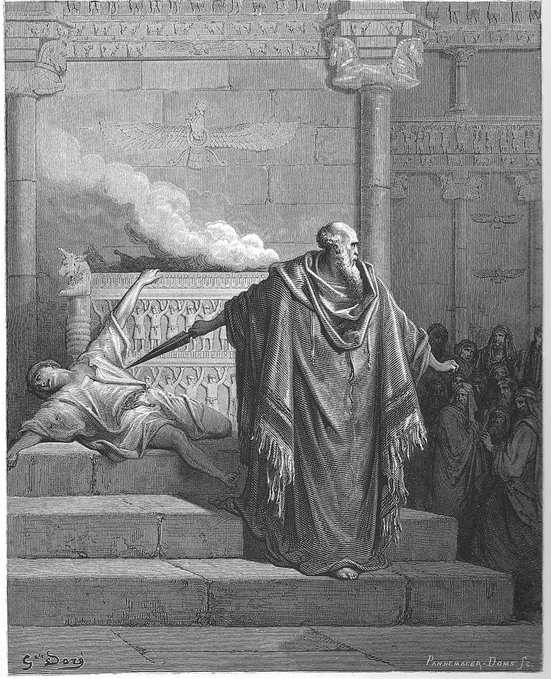 מתתיהו הורג את הכורע לפני האליל. גוסטב דורה