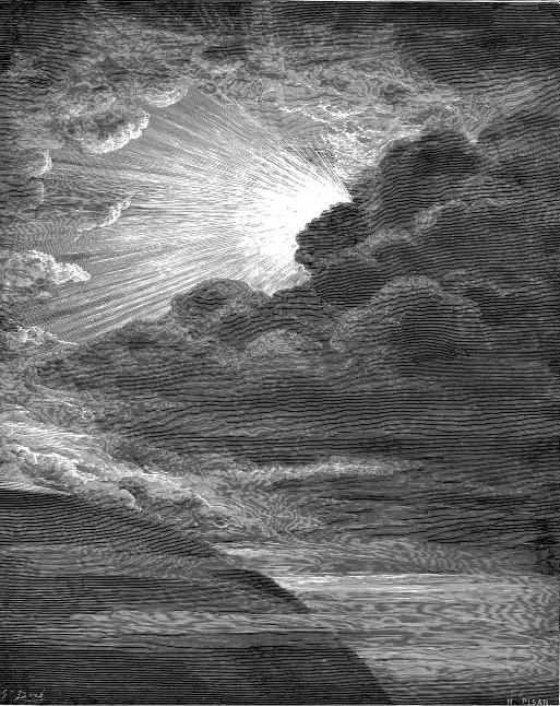 אלוהים בורא את האור, ביום הראשון לבריאה. תחריט מאת גוסטב דורה.