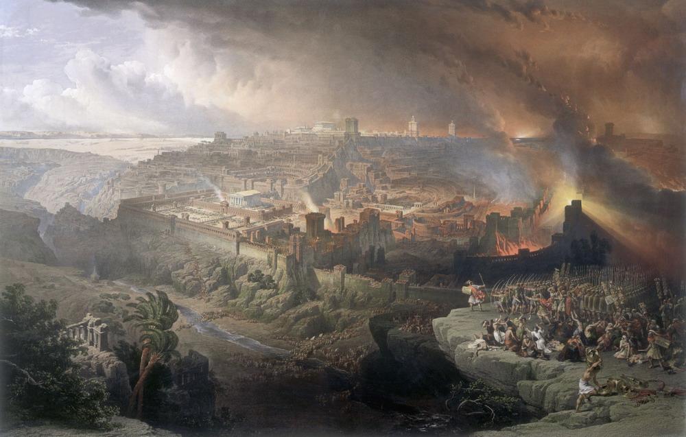 תיאור המצור וחורבן ירושלים כפי שתואר על ידי הצייר דייוויד רוברטס