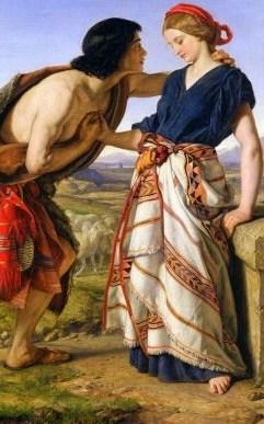 יעקב פוגש את רחל על שפת הבאר - ציור של William Dyce המאה ה-19 המקור:ויקישיתוף