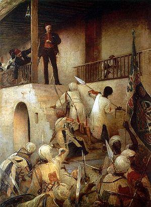 רגע לפני נפילתו של גורדון, ציורו של ג'ורג' ג'וי.
