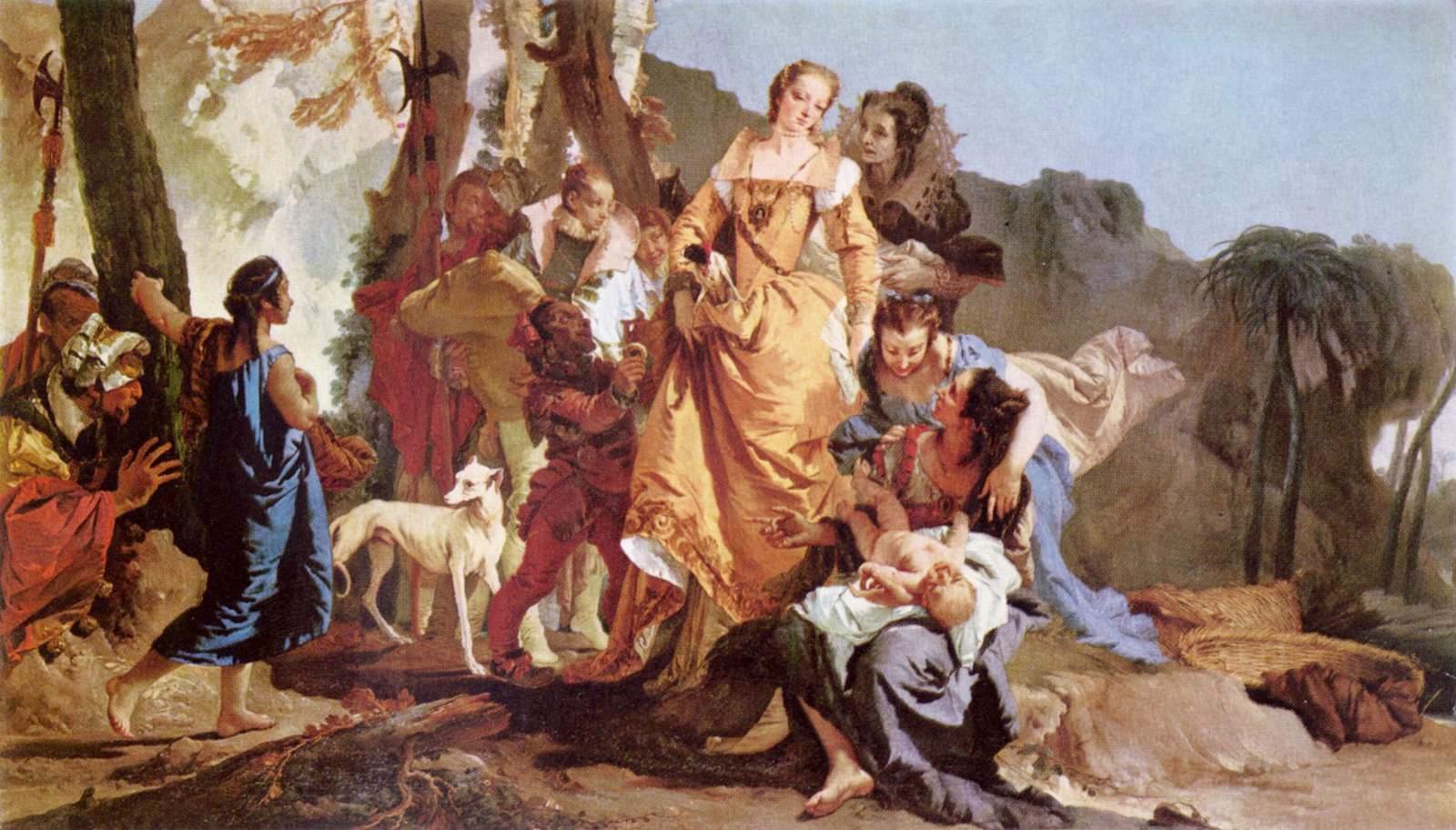 """""""בת פרעה מוצאת את משה"""", מאת ג'ובני בטיסטה טייפולו"""