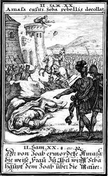 האישה החכמה מאבל בית מעכה מרוצצת את שבע בן בכרי יוהן כריסוף וייגל 1695