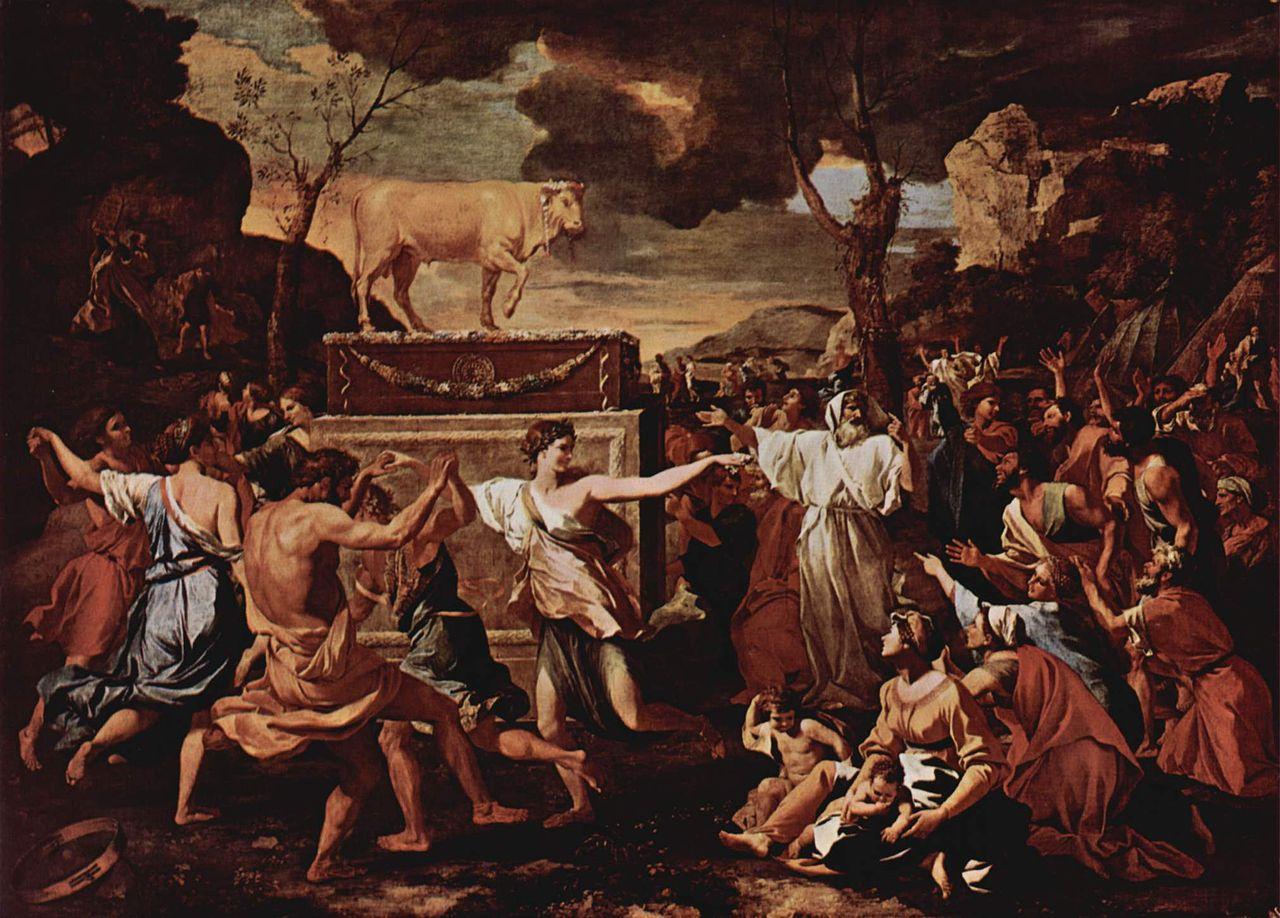 מעשה חטא העגל בציורו של ניקולא פוסן