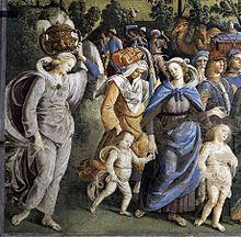 משה, צפורה ושני הבנים עוזבים את מצרים, פייטרו פרוג'ינו