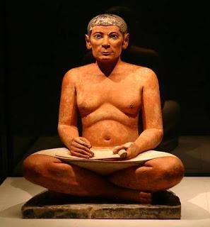 סופר המל - פסל מצרי קדום. שוטר - הוא הכותב את השטרות כלומר הסופר.