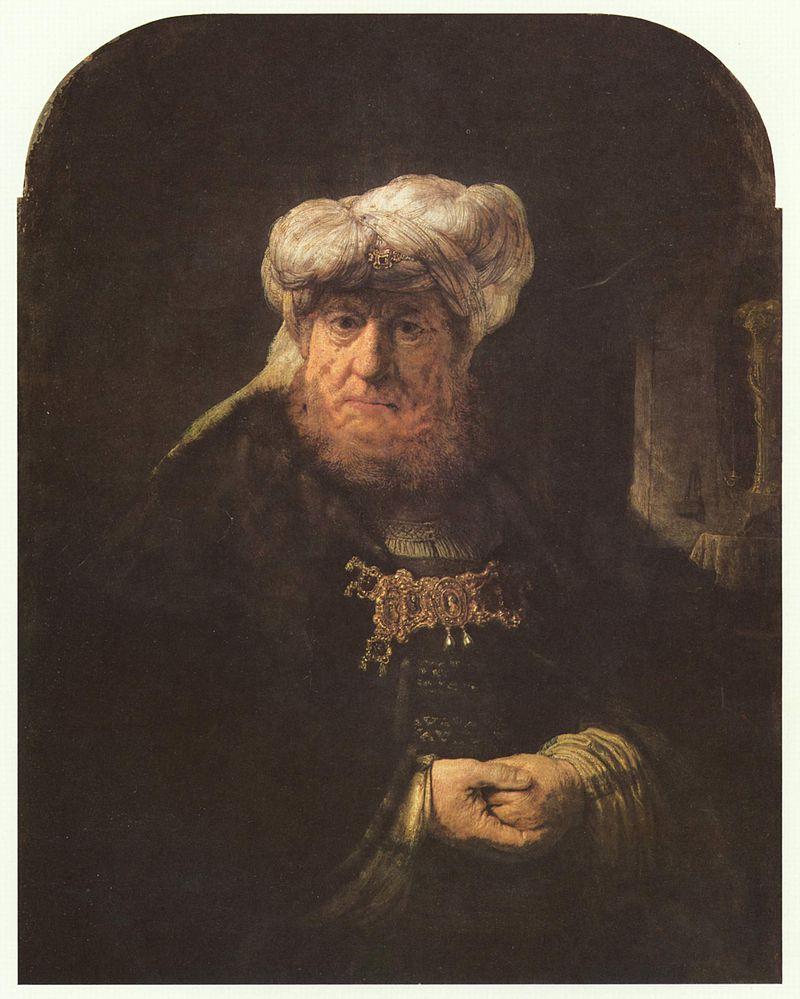 המלך עוזיהו מוכה בצרעת. ציור מעשה ידי רמברנדט משנת 1635.