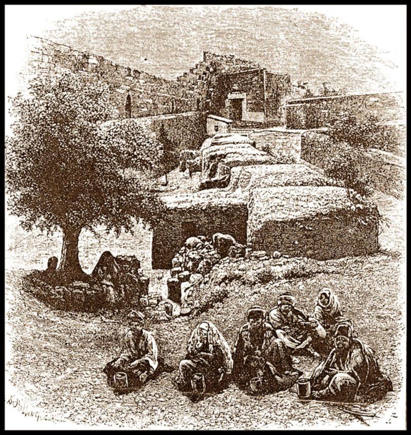 מושבת המצורעים ליד שער ציון, 1860