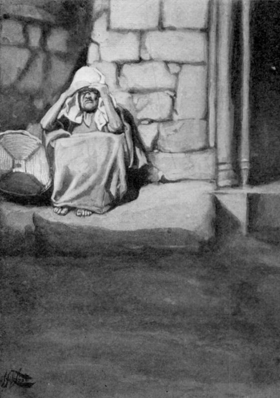 מרים מחוץ למחנה, נגועה בצרעת ציור מעשה ידי ג'יימס טיסו משנת 1896 לערך.