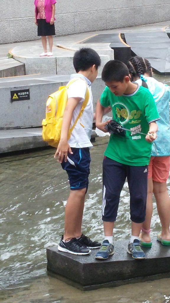 ילדים שולים מטבעות מבריכת המטבעות