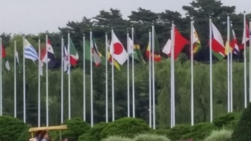 דגלי המדינות בפארק האולימפי