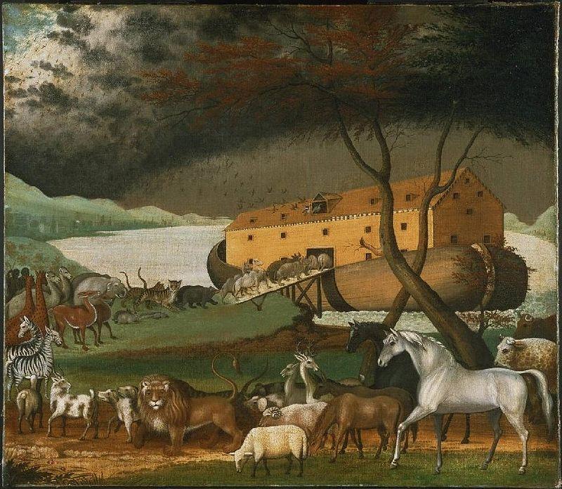 """אגדות חז""""ל תיבת נוח ציור של אדוורד היקס (1780–1849)"""