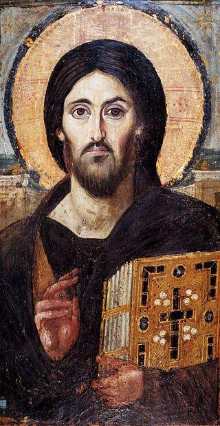 פרטים נוספים איקונין המציג את ישו ממנזר סנטה קתרינה (מהמאה ה-6).