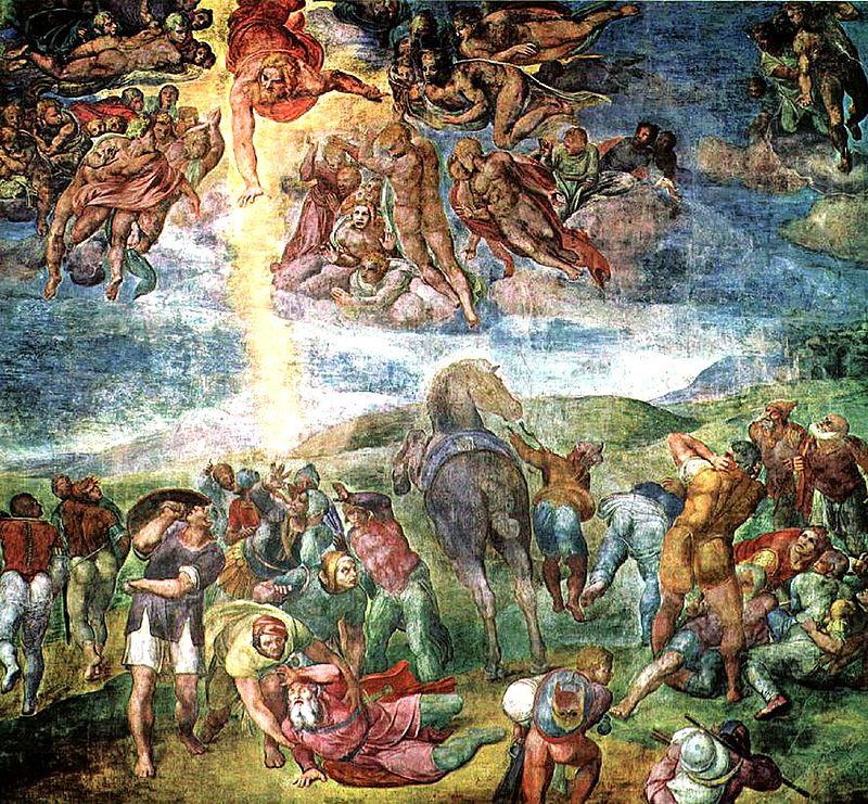 ההתגלות לפאולוס, פרסקו של מיכלאנג'לו