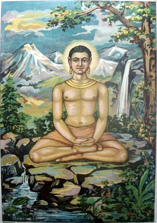 דמותו של בודהה בציור מהמאה ה-19