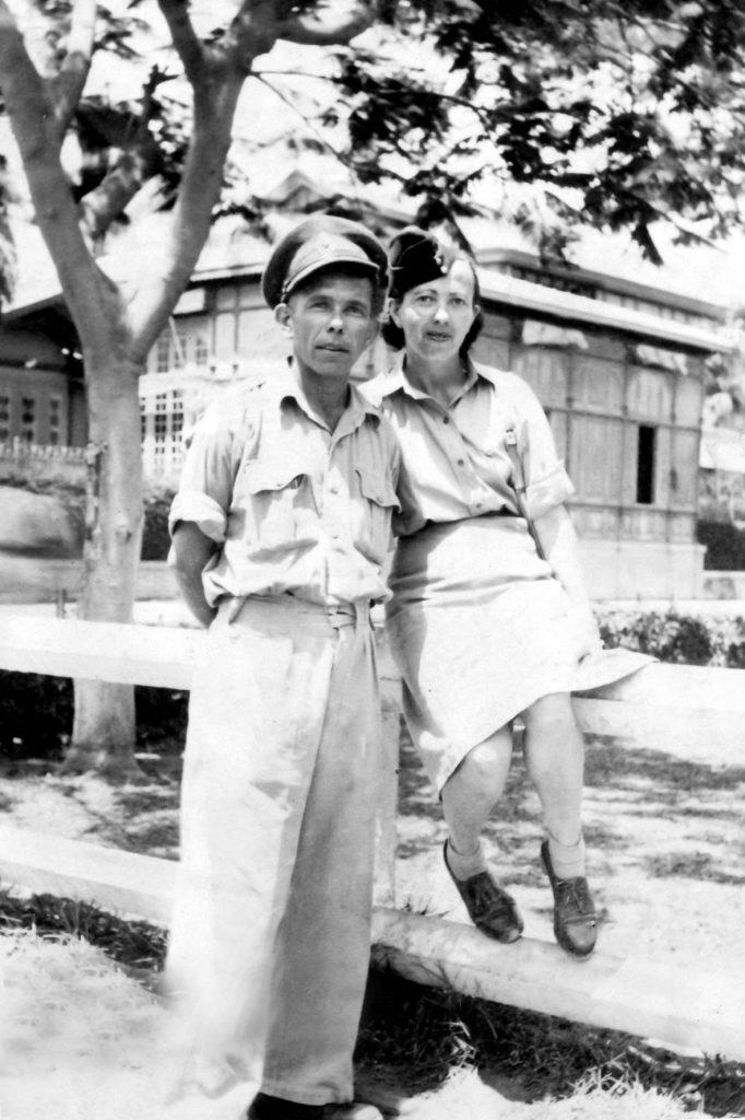 אבי ואחותו רחל בצבא הבריטי