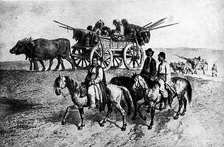 משפחה צוענית במהלך מסע, 1837